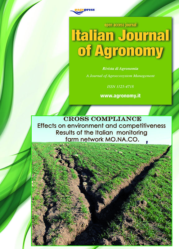 View Vol. 10 No. s1 (2015): Cross Compliance. Results of the Italian monitoring farm network MO.NA.CO.
